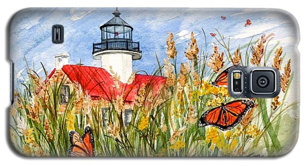 Monarch Butterflies At East Point Light Galaxy S5 Case by Nancy Patterson