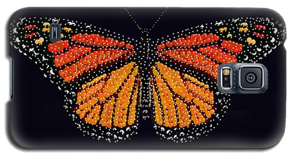 Monarch Butterfly Bedazzled Galaxy S5 Case