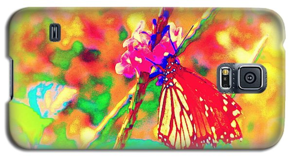 Galaxy S5 Case featuring the painting Monarch Butterfly  by David Mckinney