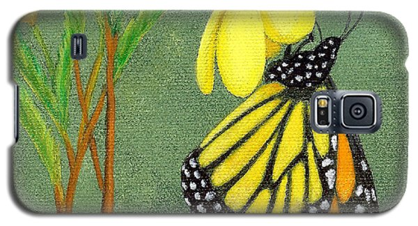Galaxy S5 Case featuring the painting Monarch Gold by Fran Brooks