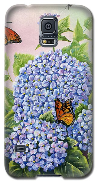 Monarchs And Hydrangeas Galaxy S5 Case
