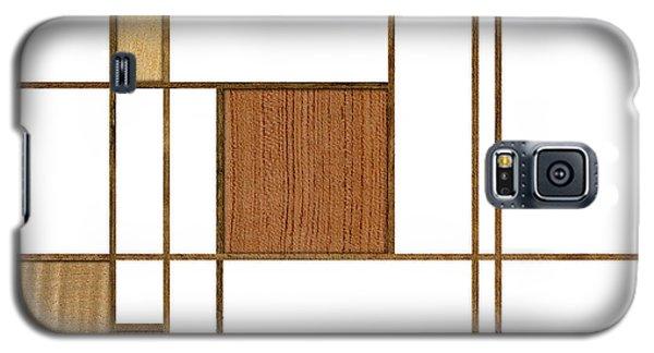 Mondrian In Wood Galaxy S5 Case