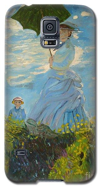 Monet-lady With A Parasol-joseph Hawkins Galaxy S5 Case by Joseph Hawkins