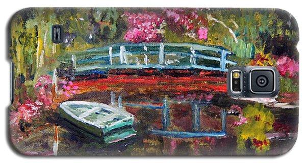 Monet's Green Boat In His Garden Galaxy S5 Case