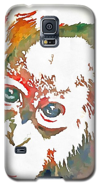Galaxy S5 Case featuring the digital art Monkey Pop Art by Catherine Lott