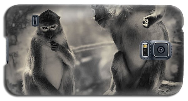 Galaxy S5 Case featuring the photograph Monkeys In Freedom by Christine Sponchia
