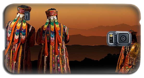 Galaxy S5 Case featuring the digital art Monks From Bhutan by Angelika Drake