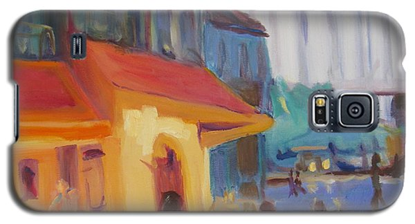 Galaxy S5 Case featuring the painting Monmartre by Julie Todd-Cundiff