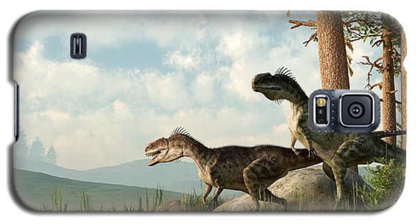 Monolophosaurs On The Hunt Galaxy S5 Case