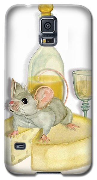 Galaxy S5 Case featuring the painting Monsieur Mouse by Anne Beverley-Stamps