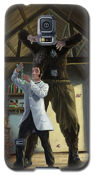 Monster In Victorian Science Laboratory Galaxy S5 Case