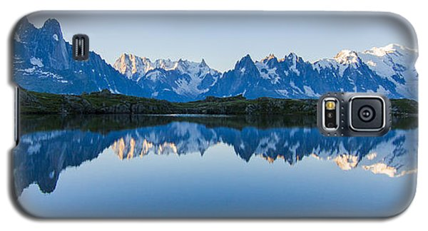 Mont Blanc Massif Panorama Galaxy S5 Case by Mircea Costina Photography