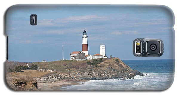 Galaxy S5 Case featuring the photograph Montauk Lighthouse View From Camp Hero by Karen Silvestri