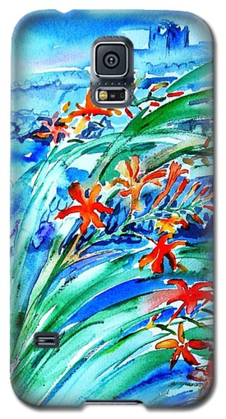 Montbretia On Inisheer  Galaxy S5 Case by Trudi Doyle