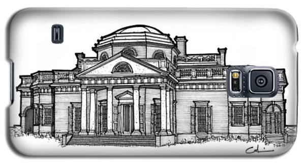 Galaxy S5 Case featuring the drawing Monticello by Calvin Durham
