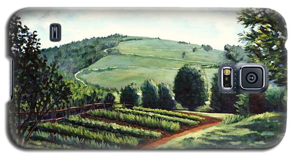 Galaxy S5 Case featuring the painting Monticello Vegetable Garden by Penny Birch-Williams