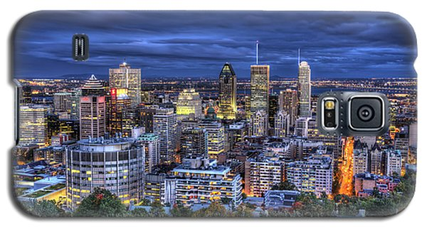Montreal Skyline At Dusk Galaxy S5 Case by Shawn Everhart