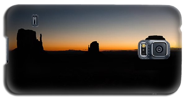 Galaxy S5 Case featuring the photograph Monument Valley Sunrise by Jeff Kolker