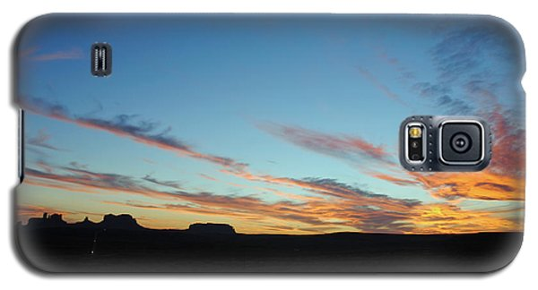 Galaxy S5 Case featuring the photograph Monument Valley Sunset 2 by Jeff Brunton