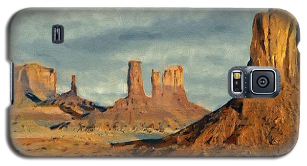 Galaxy S5 Case featuring the painting Monumental by Jeff Kolker