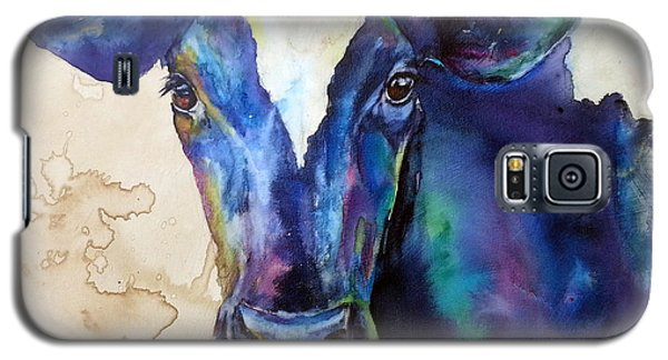 Galaxy S5 Case featuring the painting Moo by Christy  Freeman
