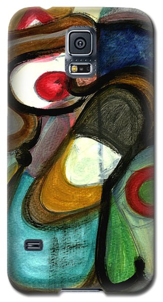 Galaxy S5 Case featuring the painting Moody Blues by Stephen Lucas