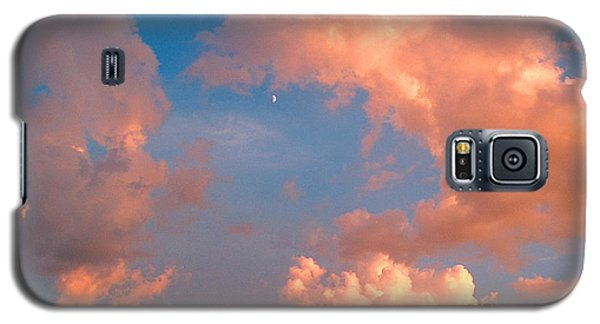 Galaxy S5 Case featuring the photograph Moon And Clouds by Joan Hartenstein