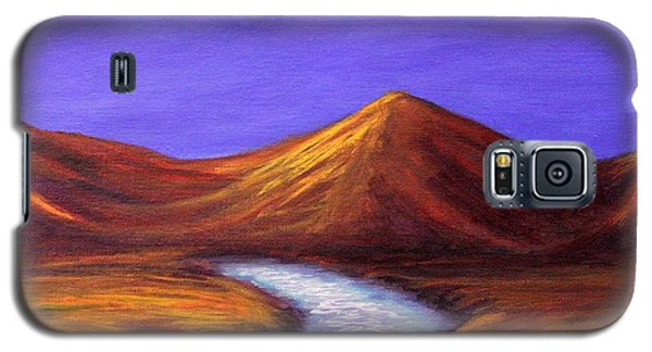 Galaxy S5 Case featuring the painting Moon And Cygnus by Janet Greer Sammons