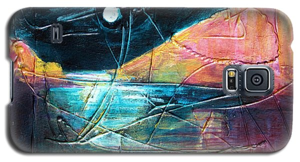 Galaxy S5 Case featuring the painting Moon And Lagune by Betty Pieper