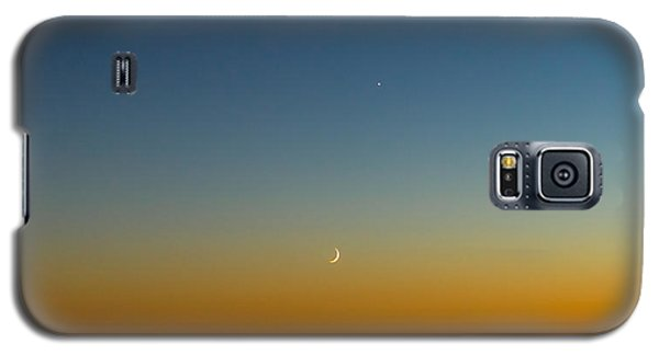 Moon And Venus I Galaxy S5 Case by Marco Oliveira