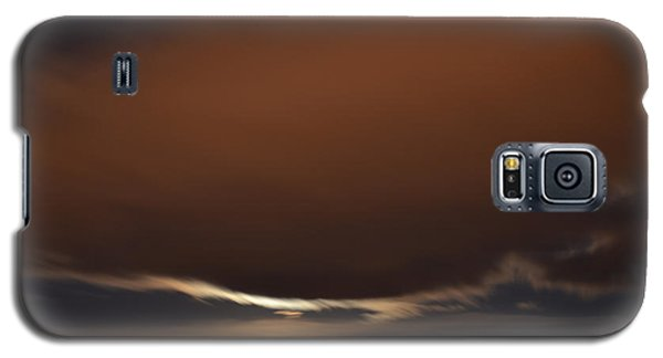 Galaxy S5 Case featuring the photograph Moon Behind Clouds At Night  by Lyle Crump