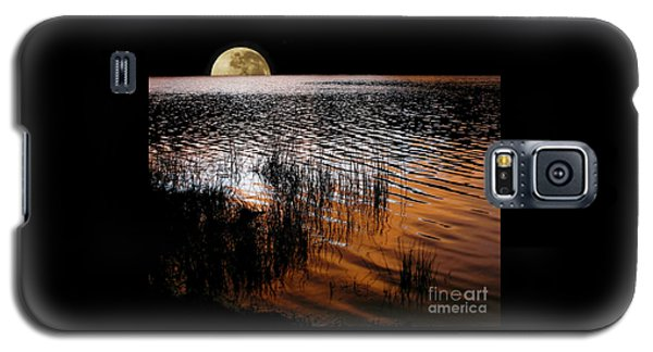 Moon Catching A Glimpse Of Sunset Galaxy S5 Case by Kaye Menner