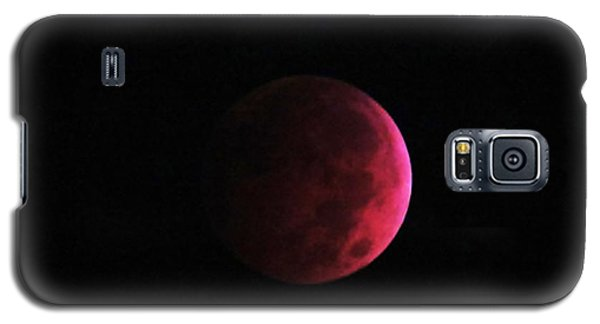 Moon Eclipse Blood Red Galaxy S5 Case by Judy Via-Wolff