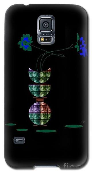 Moon Flower 1 Galaxy S5 Case by Ann Calvo
