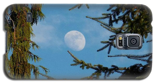 Moon Framed By Trees Galaxy S5 Case by Karen Molenaar Terrell