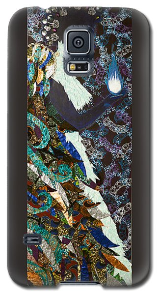 Galaxy S5 Case featuring the tapestry - textile Moon Guardian - The Keeper Of The Universe by Apanaki Temitayo M