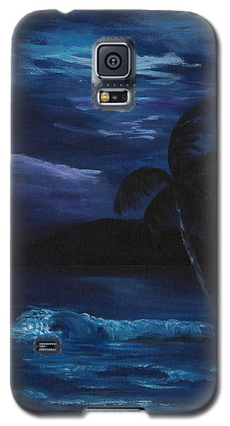 Moon Light Tropics Galaxy S5 Case