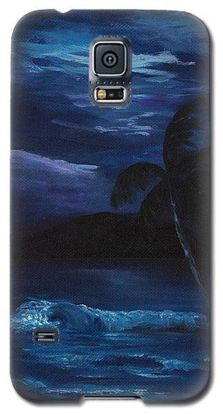 Moon Light Tropics Galaxy S5 Case by Darice Machel McGuire