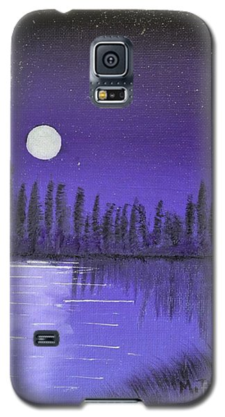 Galaxy S5 Case featuring the painting Moon Lit Bay by Melvin Turner