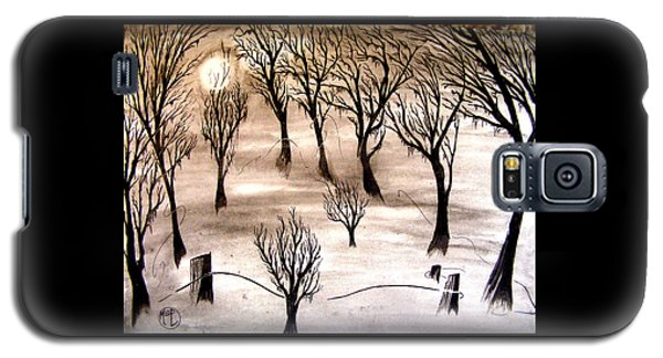 Moon Lit Fog Galaxy S5 Case by Justin Moore