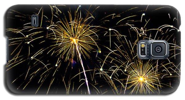 Moon Over Golden Starburst- July Fourth - Fireworks Galaxy S5 Case