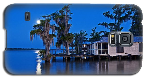 Galaxy S5 Case featuring the photograph Moon Over Lake Verret by Andy Crawford
