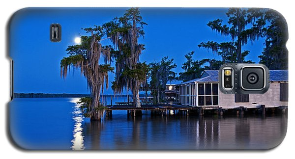 Moon Over Lake Verret Galaxy S5 Case by Andy Crawford