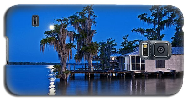 Moon Over Lake Verret Galaxy S5 Case