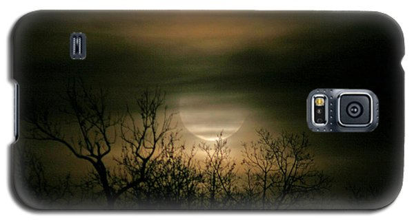 Galaxy S5 Case featuring the photograph Moon Over Prince George by Karen Harrison