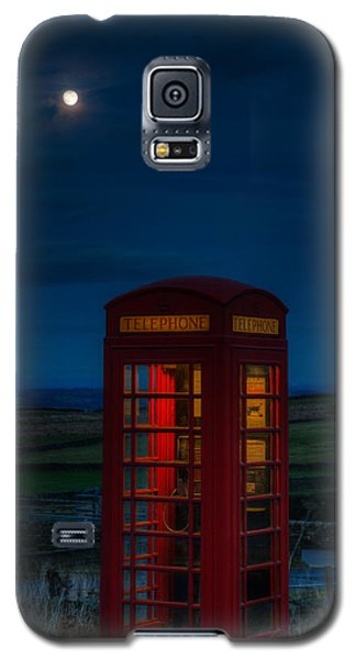 Moon Over Telephone Booth Galaxy S5 Case