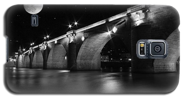 Moon Over The Alte Brucke Galaxy S5 Case