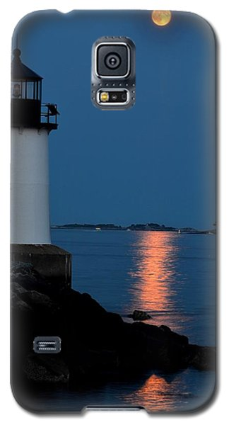 Moon Over Winter Island Salem Ma Galaxy S5 Case