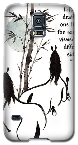 Galaxy S5 Case featuring the painting Moon Reverence With Lao Tzu Quote I by Bill Searle