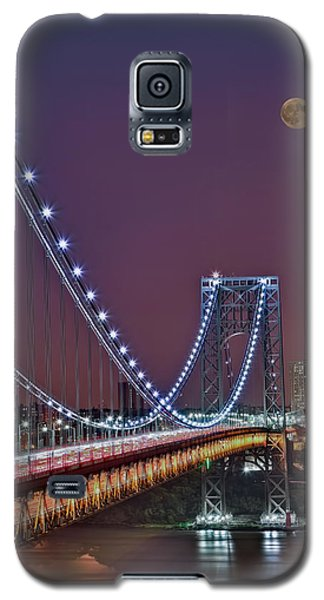 Moon Rise Over The George Washington Bridge Galaxy S5 Case